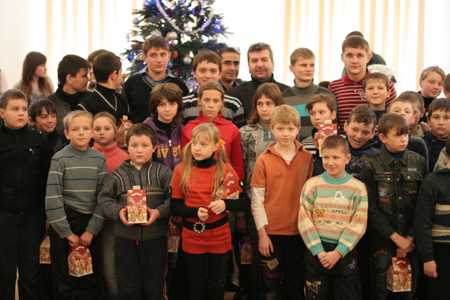 New Year adventures of Iron Wolf in the circle of Chernobyl children